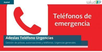 Adeslas Teléfono Urgencias